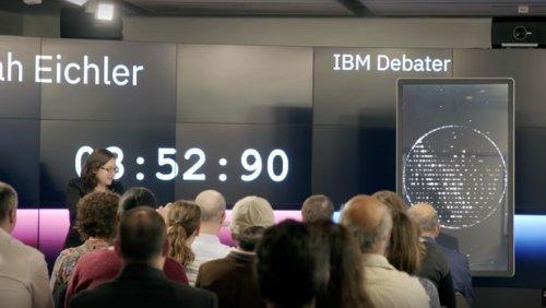 Система искусственного интеллекта компании IBM выиграла дебаты у самого искушенного в этом деле человека