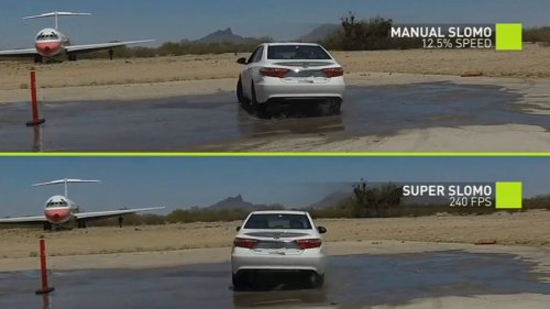 Новая система компании NVidia, основанная на искусственном интеллекте, превращает любое видео в сверхвысококачественную замедленную съемку