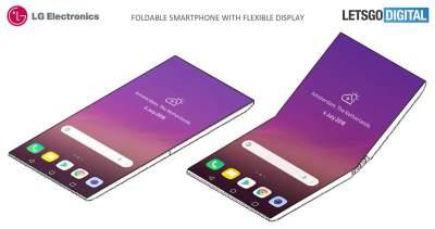 LG создает складывающийся пополам смартфон