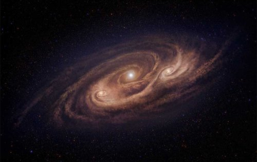 Радиотелескоп ALMA сделал самый подробный снимок древней галактики-монcтра, удаленной на расстояние в 12.4 миллиарда световых лет