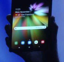 Samsung показала технологию гибких экранов