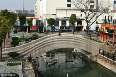 Cамый длинный в мире распечатанный на 3D-принтере мост появился в Китае