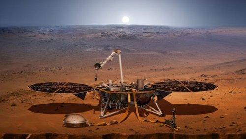 Спускаемый аппарат миссии InSight совершил успешную посадку на поверхность Красной Планеты