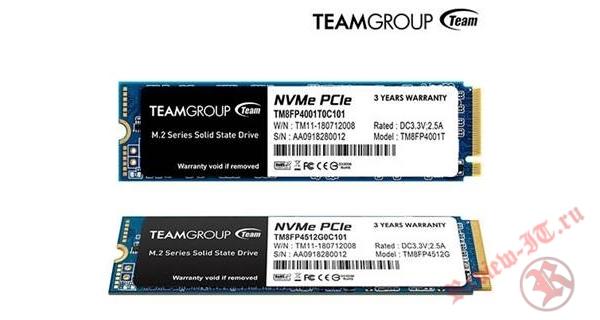 Team Group выпускает твердотельный накопитель MP34 M.2