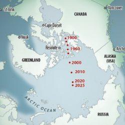 Магнитный полюс с небывалой скоростью движется к России