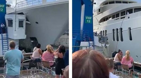 Женщины продолжали пить вино, невзирая на аварию с шикарной яхтой Романа Абрамовича