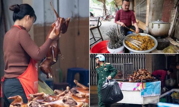 Настоящие хот-доги на мясном рынке во Вьетнаме