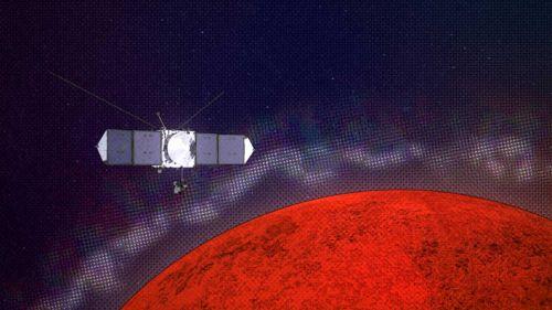 """Исследовательский космический аппарат MAVEN обнаружил слои и """"рифы"""" в верхних слоях атмосферы Марса"""