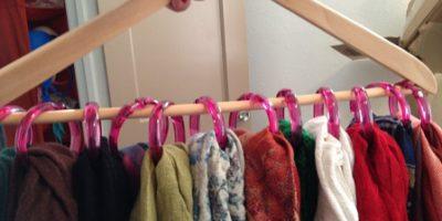 вешалки для шарфиков и галстуков